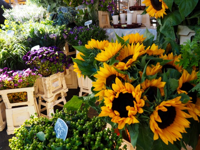 I so wished we could take home a bundle of these beautiful sunflowers.