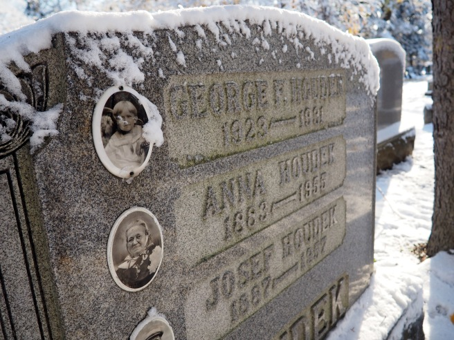 You'll notice quite a few headstones inlaid with photographs of the deceased.