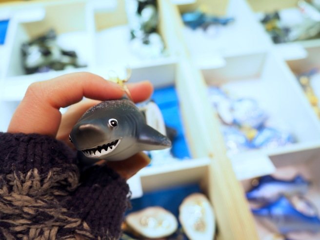 I had a very hard time walking away from this awesome shark ornament! Next year...