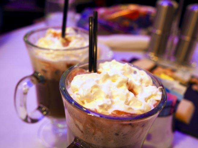Hot chocolate at Marshall Field Chicago Walnut Room 2015