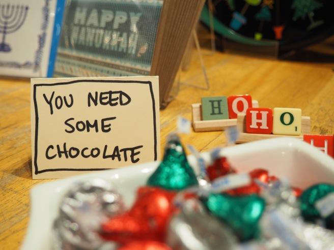 Yes. Yes I think I do need some chocolate.