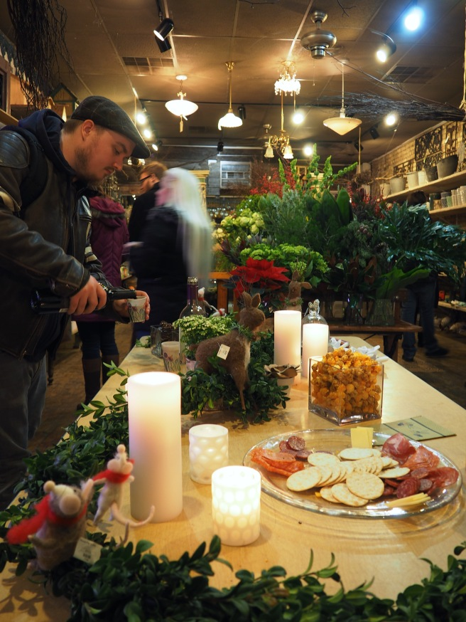 Treats and live music at Marguerite Gardens Florist in Andersonville.