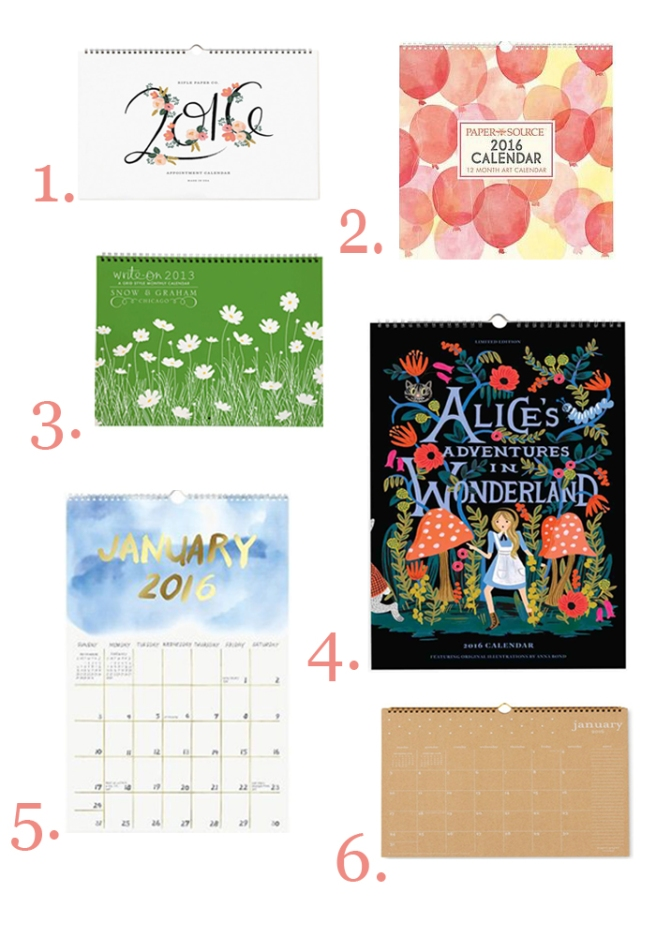 Wall Calendars 2016//List Maker Picture Taker